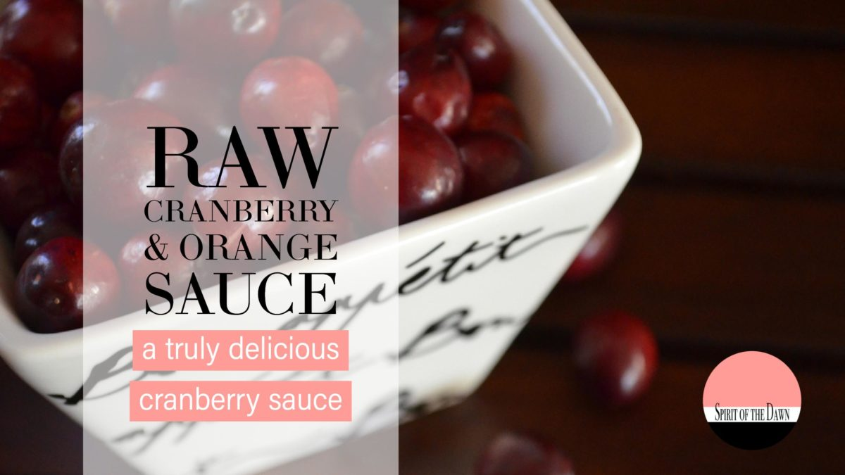 Raw Cranberry & Orange Sauce