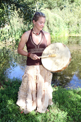 Shaman Shonagh Home with Drum