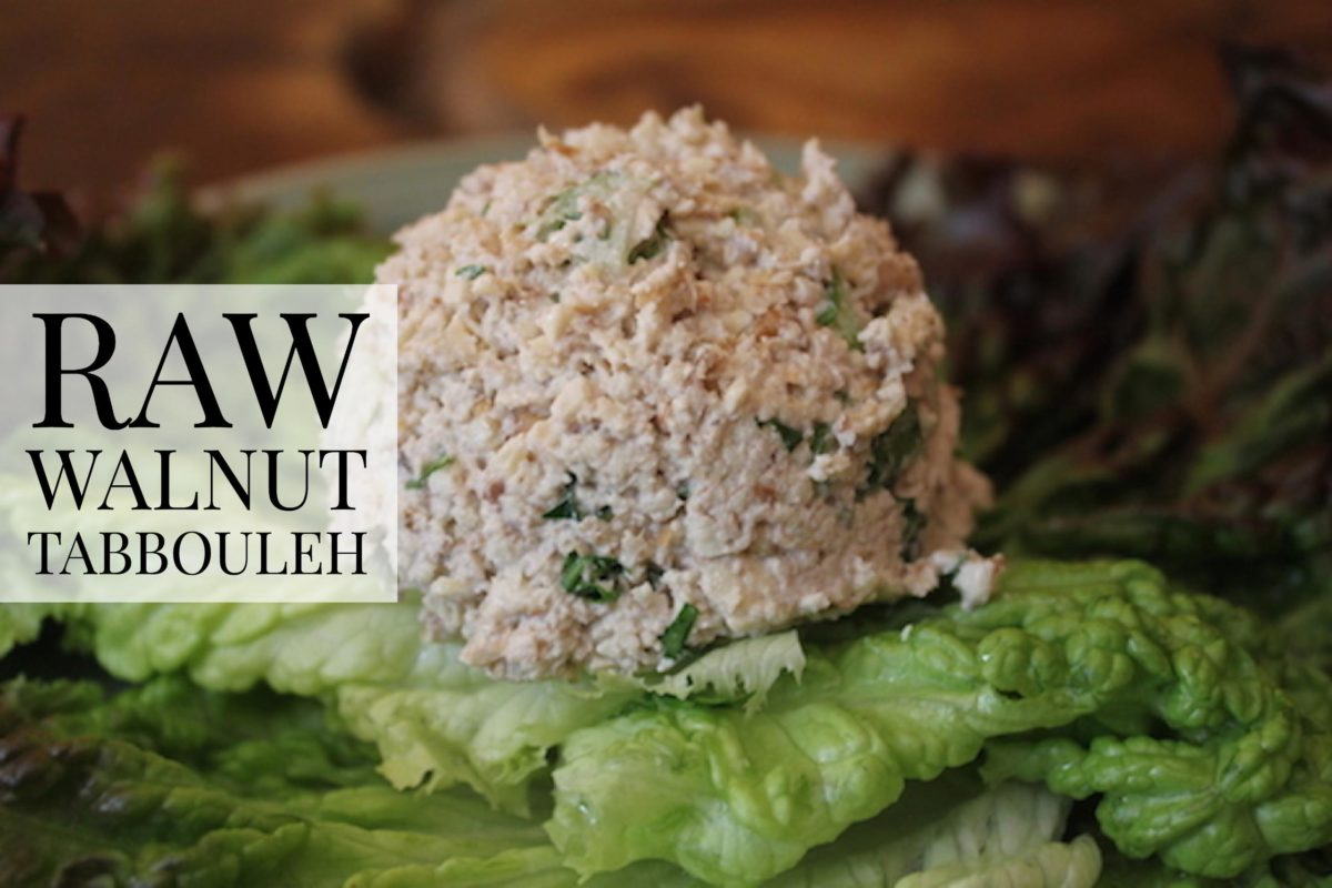 Raw Walnut Tabbouleh